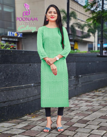 green top - pure rayon front & sleev chickan work | length - 47 fabric chickan work work casual