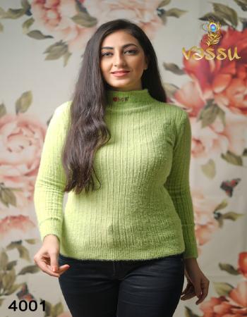 green woolen  fabric plain work festive