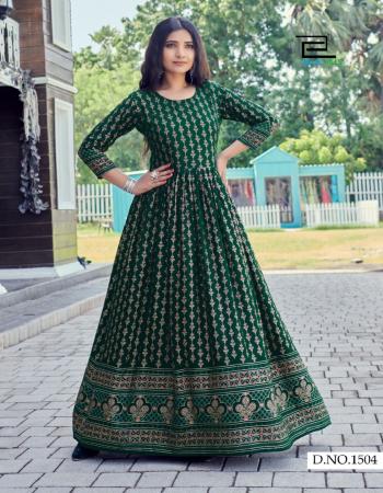 dark green rayon fabric printed work casual