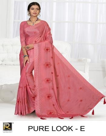 pink chinon patta  fabric embroidery work festive