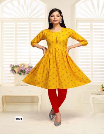 yellow heavy rayon lurex two tone print fabric printed  work casual