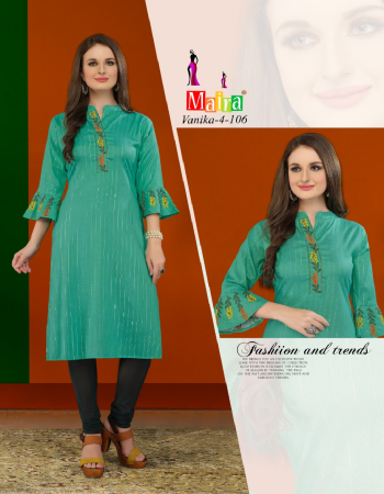 green rayon lining 14kg with sleeves work & front work | length - 54 fabric fancy work work casual
