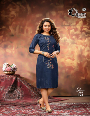 navy blue rayon lurex | length - 45 approx fabric embroidery work casual