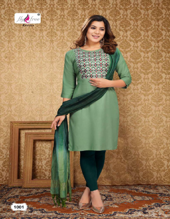 green top - heavy rayon 14kg with work | dupatta - fancy  fabric embroidery work casual