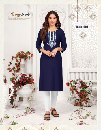 navy blue rayon 14kg rayon with embroidery work  fabric embroidery work casual