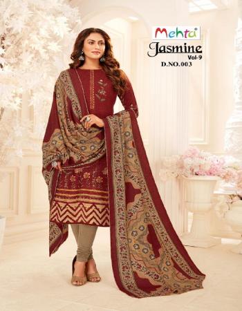 brown top - pashmina ( 2.50m ) | bottom - pashmina ( 2.50m) | dupatta - shawl dupatta ( 2.25m) fabric printed  work casual