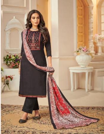 black top - woollen pashmina dyed with neck embroidery work ( 2.5 m) | bottom - pure pashmina dyed ( 2.75 m) | dupatta - pashmina shwal khani beautiful digital print ( 2.25m) fabric embroidery work festive