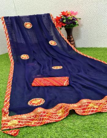 navy blue dhola silk fabric fancy work work casual