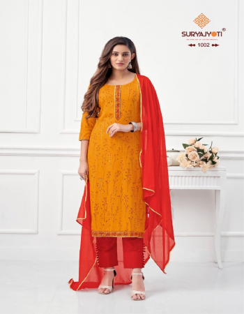orange top - cotton flex foil print with neck & border embroidery work ( 2.50 m) | bottom - cotton soild ( 2.50 m)|dupatta - nazmeen with four side border ( 2.25 m) fabric printed work casual