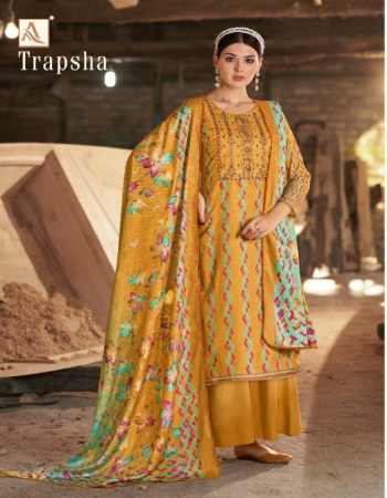 yellow top - pure wool pashmina digital print with embroidery & swarovaski diamond | bottom- pure wool pashmina soild | dupatta - pure wool pashmina digital print dupatta with four side lace fabric digital printed + embroidery work festive