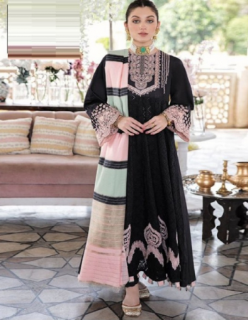 black cotton schiffli work fabric for kameez and sleeves cotton bottoms beautiful multicoloured chiffon dupatta [ pakistani copy ] fabric embroidery work casual