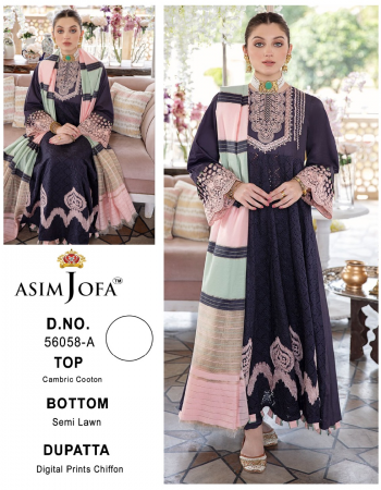 purple top - lawn cotton with heavy embroidery with cutwork daman | sleeves - embroidered | bottom - lawn cotton | dupatta - siffon digital print [ pakistani copy] fabric embroidery work ethnic