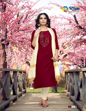 maroon 100% heavy 17kg rayon fabric embroidery work casual