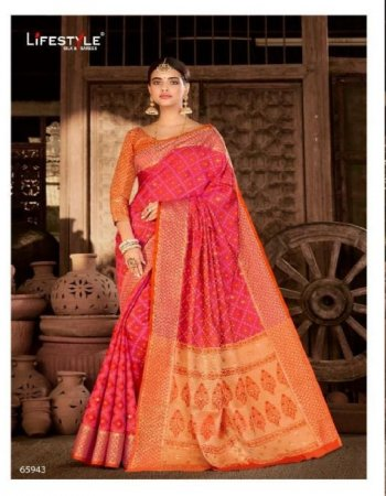 red pattola rich fabric  printed work party