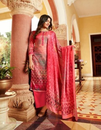 dark pink pure kollam silk  fabric printed work wedding