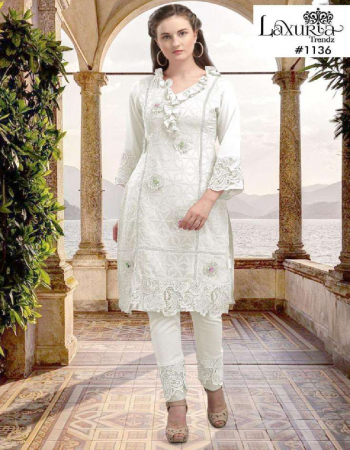 white georgette fabric embroidery work feastval