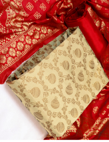 cream banarasi jacquard  fabric jacquard work ethnic