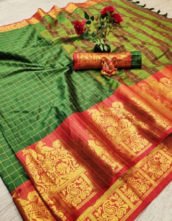 green aura silk fabric printed work ethnic