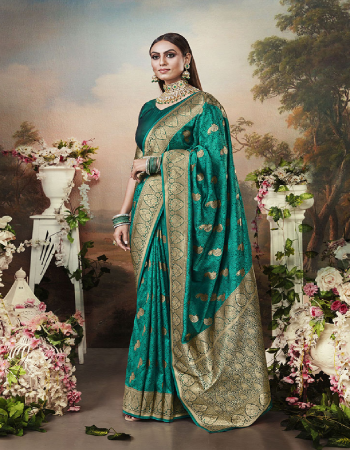 rama banarasi silk fabric jacquard work party wear