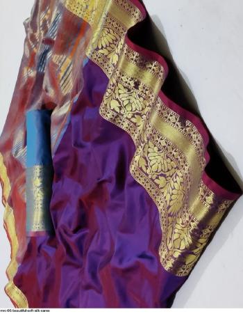 purple soft silk fabric jacquard work casual