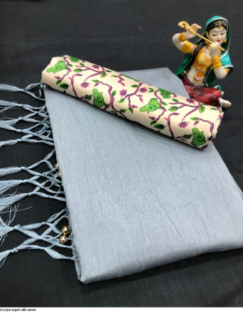 grey silk fabric plian work festive