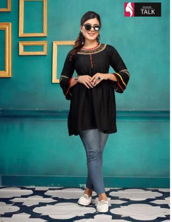 black rayon fabric embroidery work ethnic
