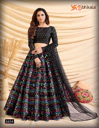 black tafeta silk & net fabric pigment foil& printed  work party wear