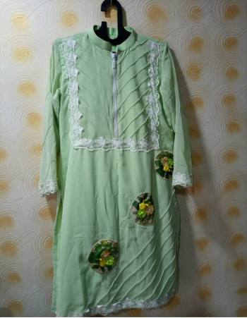 pista chiffon with inner attached fabric fancy work wedding