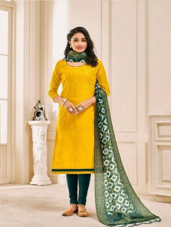 yellow modal fabric digital print work casual