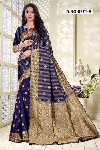blue handloom cotton silk fabric weaving work festival
