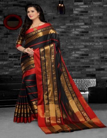 black cotton silk fabric zari weaving work wedding