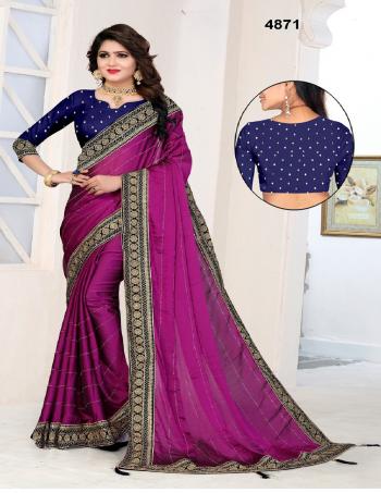 wine saree - rangoli silk   blouse - banarasi silk fabric embroidery  border work running