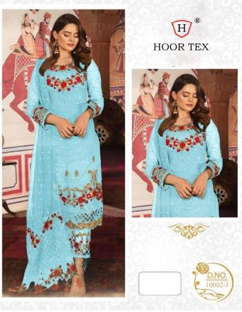 sky  top - heavy georgette | bottom + inner - santoon | dupatta - nazmin | size - 58 (9xl) | length - 45 maximum fabric embroidery work ethnic