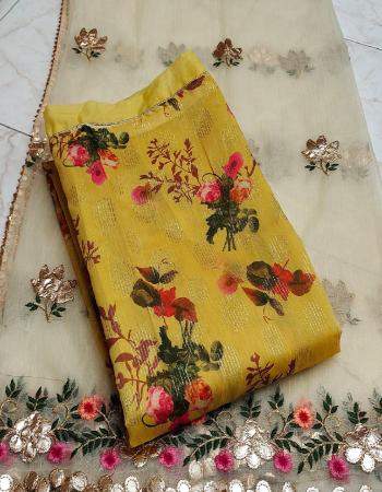 yellow top - modal lining | bottom + inner - santoon silk | dupatta - organza gotta patti work fabric embroidery printed work wedding