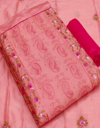 pink top - modal silk 2.30m | bottom+inner -cotton 2.30m | dupatta - chinon with embroidery 2.30m  fabric kashmira work party wear
