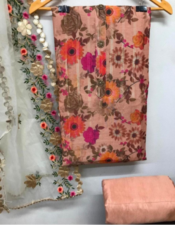 orange top - jacqaurd modal silk | bottom + inner - heavy santoon | dupatta - organza gota patti work fabric digital print work wedding