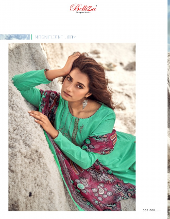 rama top -pure heavy jam cotton with embroidery work 2.50m | bottom - pure soft cotton 3m | dupatta - pure nazmeen 2.30m fabric printed emrboidery work party wear