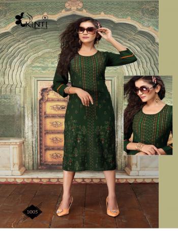 green rayon slub multi color foil print | sleeve -3/4 | length -45 fabric foil print work festive