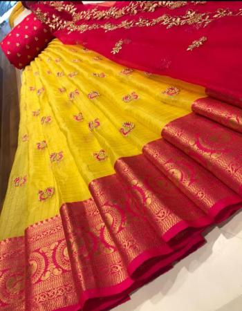 yellow lehenga - kanchi organza silk 3m| blouse -banglori silk 1m |dupatta - organza 2.20m fabric embroidery work party wear