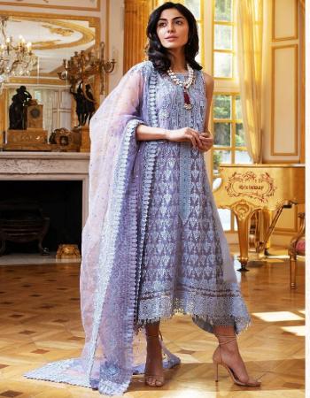 purple top - soft net | bottom + inner - santoon | dupatta - net fabric embroidery work party wear