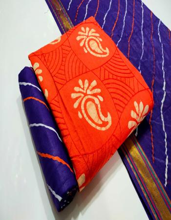 orange top - pure cotton batik print with embroidery 2.1m |bottom - pure cotton bandhej print 2.1m |dupatta -cotton bandhej print 2.1m fabric bandhej print embroidery work casual