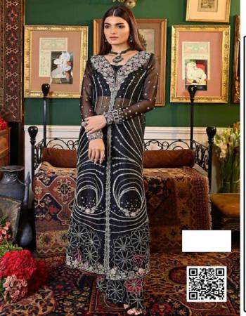 black top - georgette | bottom + inner- santoon | dupatta -fine chiffon |size -fits upto 54 | length -46 | type -semi stitch fabric embroidery zari diamond work ethnic