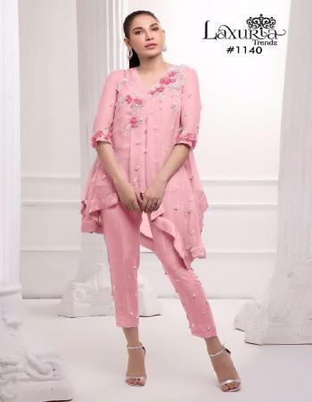 pink top - fox georgette |inner - santoon |pant -cotton strachble fabric fancy handwork work wedding