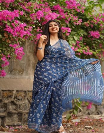 grey saree -soft linen | blouse - banglori  satin fabric digital print  work festive