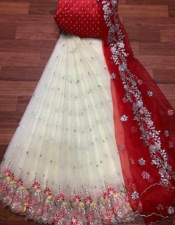 white lehenga -organza 3.20m |blouse -banglori satin 1m |dupatta -organza 2.20m | type -semi stitch fabric embroidery cutwork work ethnic