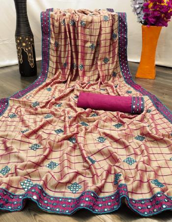 light orange saree -vichitra silk |blouse -banglori silk fabric kashmiri mirror work work casual
