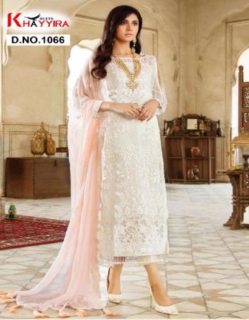white top -georgette |bottom + inner -santoon |dupatta -nazmeen fabric embroidery work casual
