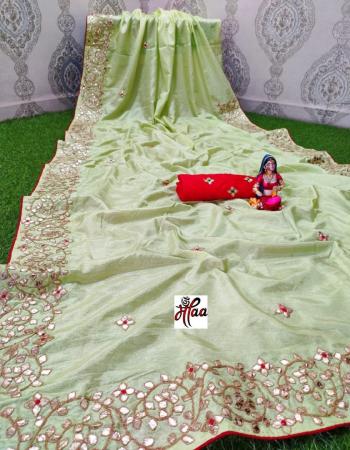 pista saree -dola silk | blouse -banglori fabric gotta patti work work casual