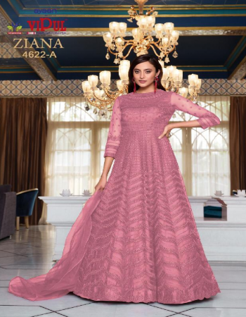 pink top -heavy net embroidery fancy dori work |inner -santoon |dupatta -net |size -maxupto 46 |length -upto 58 inch | type-semi stitched fabric embroidery dori work work wedding
