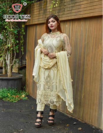 off white top -heavy net |bottom +inner -santoon |dupatta -nazmin | size -58(9xl) |length -50 |type -semi stitched fabric embroidery work party wear